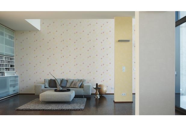 AS Création Mustertapete im skandinavischen Stil Happy Spring Vliestapete beige gelb grau 10,05 m x 0,53 m