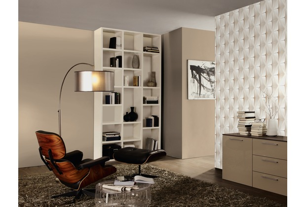 AS Création Mustertapete in 3D-Optik Move your Wall, Tapete, beige, braun