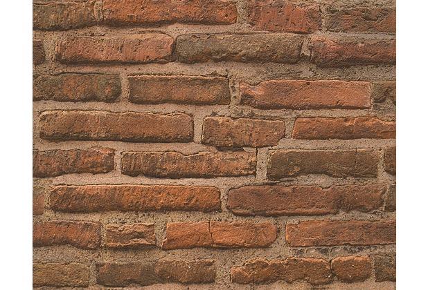 AS Création Mustertapete in Bruchsteinoptik New Look Tapete beige braun orange 307471 10,05 m x 0,53 m