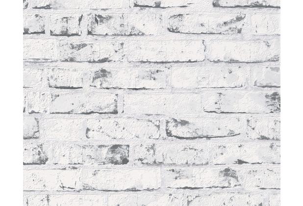 AS Création Mustertapete in Backsteinoptik New England 2, Tapete, beige, grau 907837