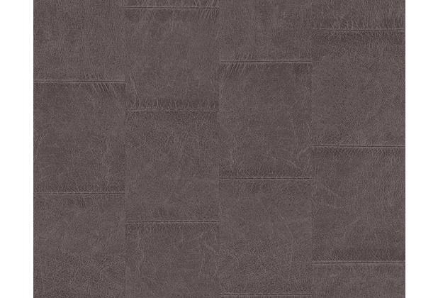 as cr ation mustertapete in lederoptik new england 2 tapete braun. Black Bedroom Furniture Sets. Home Design Ideas