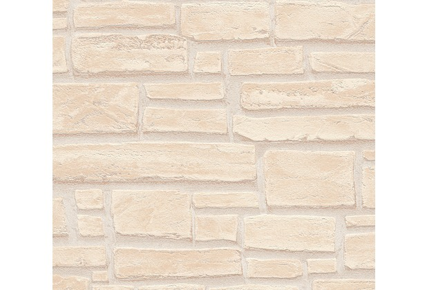 as cr ation mustertapete in steinoptik essentials vliestapete tapete beige braun creme. Black Bedroom Furniture Sets. Home Design Ideas