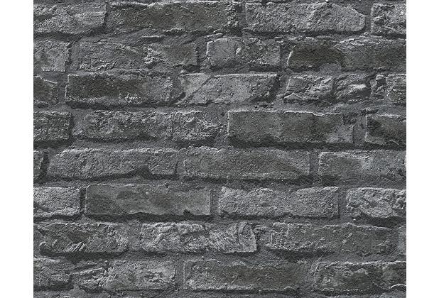 AS Création Mustertapete in Vintage-Backsteinoptik Dekora Natur, signalweiß 954701 10,05 m x 0,53 m