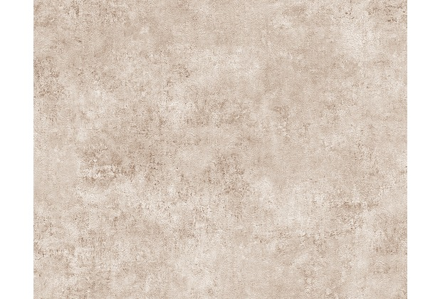 AS Création Mustertapete in Vintage-Putzoptik Decoworld, Tapete, blassbraun, cremeweiß 954063 10,05 m x 0,53 m