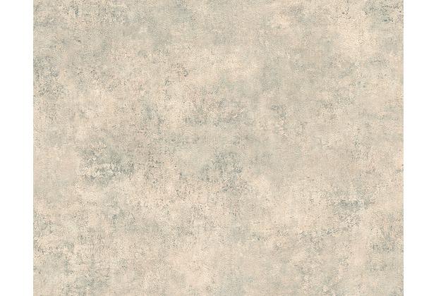 AS Création Mustertapete in Vintage-Putzoptik Decoworld, Tapete, blaugrau, beige 954062 10,05 m x 0,53 m
