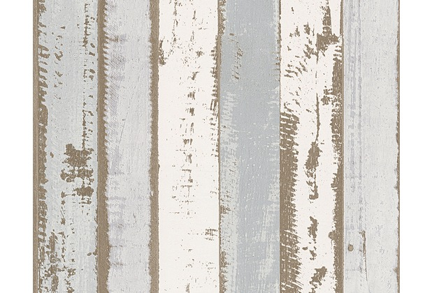 AS Création Mustertapete in Vintage Holzoptik Authentic Walls Tapete beige braun grau 302581 10,05 m x 0,53 m