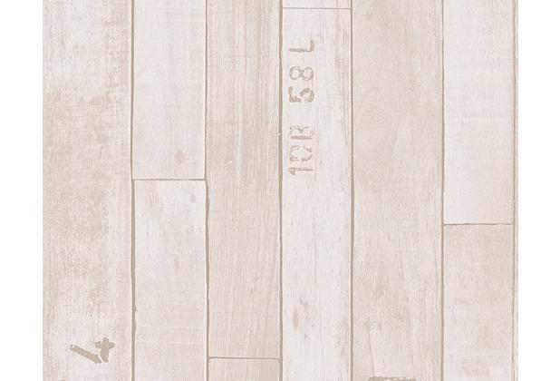 as cr ation mustertapete in vintage holzoptik authentic walls tapete beige creme. Black Bedroom Furniture Sets. Home Design Ideas