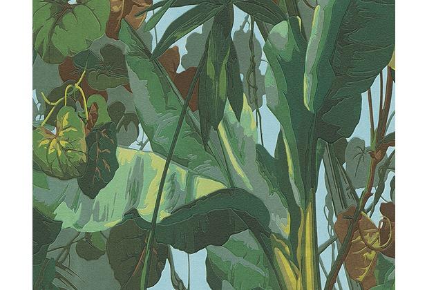 AS Création Mustertapete Simply Decor Tapete blau braun grün 958981 10,05 m x 0,53 m