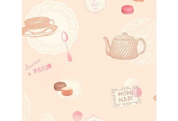 AS Création Mustertapete Kitchen Dreams Tapete braun rot 327303 10,05 m x 0,53 m