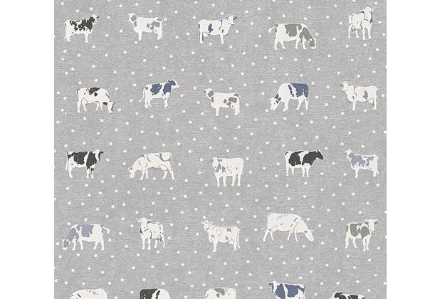 AS Création Mustertapete Kitchen Dreams Vliestapete blau grau schwarz 324594 10,05 m x 0,53 m