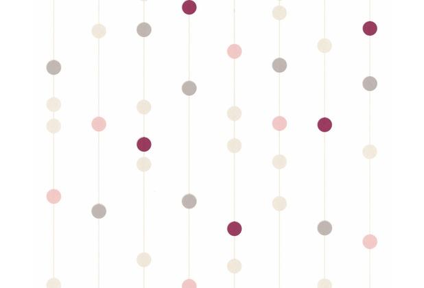 AS Création Mustertapete Life 3, Vliestapete, beige, rot, weiß 208514 10,05 m x 0,53 m