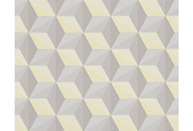 AS Création Mustertapete mit Glitter Life 3, Vliestapete, braun, gelb 962553 10,05 m x 0,53 m