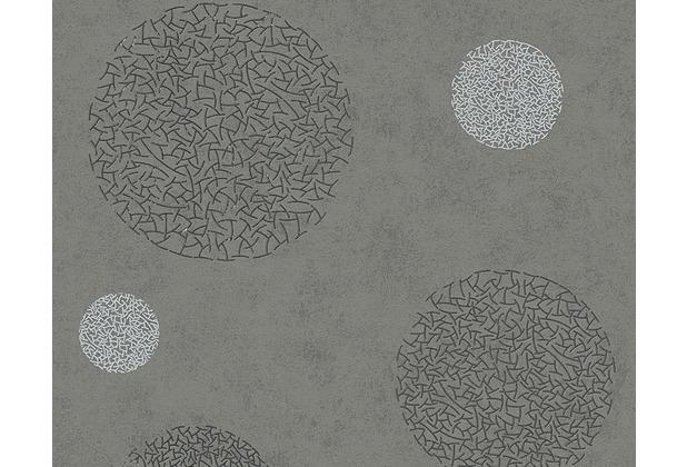 AS Création Mustertapete mit Glitter Life 3, Vliestapete, grau, metallic 960403 10,05 m x 0,53 m