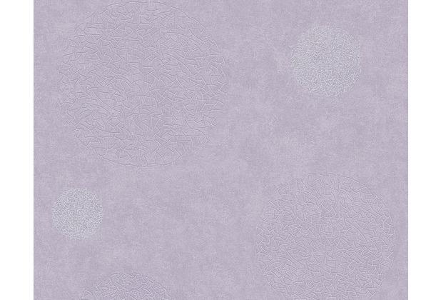 AS Création Mustertapete mit Glitter Life 3, Vliestapete, metallic, violett 960401 10,05 m x 0,53 m