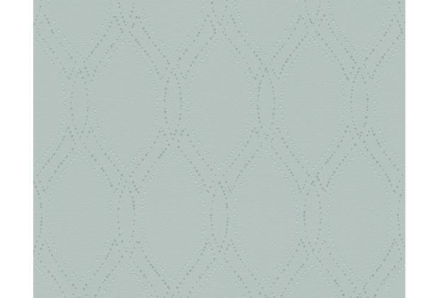 AS Création Mustertapete mit Glitter Spot 3 Vliestapete grün metallic 305994 10,05 m x 0,53 m