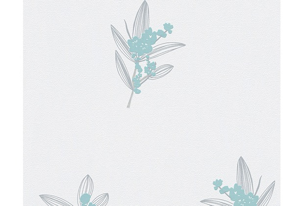 AS Création Mustertapete Paloma, Vliestapete, blau, creme, grau 301381 10,05 m x 0,53 m