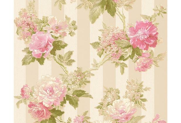 AS Création Mustertapete Romantica 3 Tapete creme grau rosa 304464 10,05 m x 0,53 m