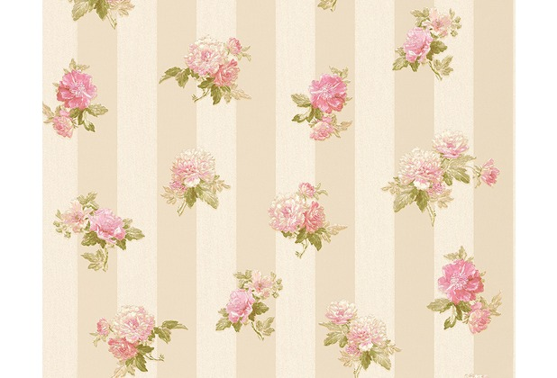 AS Création Mustertapete Romantica 3 Tapete creme grau rosa 304474 10,05 m x 0,53 m