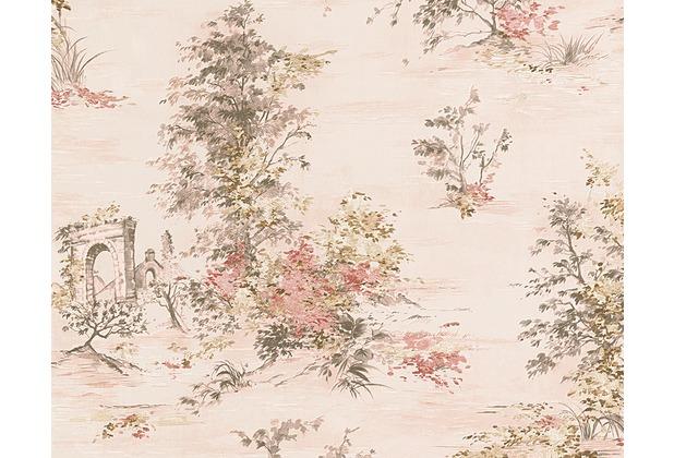 AS Création Mustertapete Romantica 3 Tapete creme grün rot 304292 10,05 m x 0,53 m