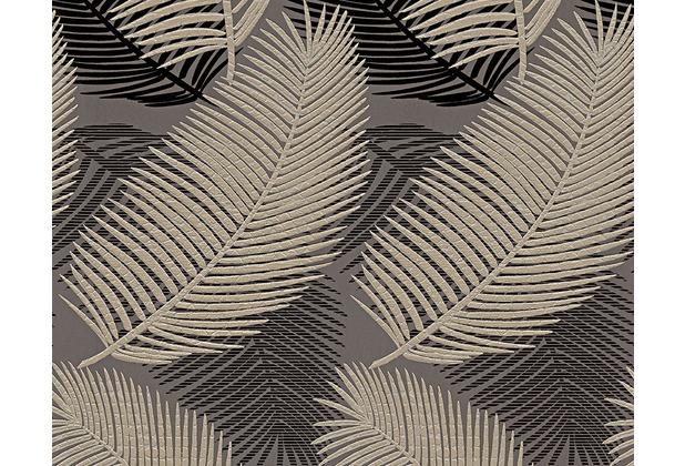 AS Création Mustertapete San Francisco, Strukturprofiltapete, braun, metallic, schwarz 958783 10,05 m x 0,53 m