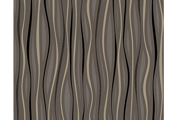 AS Création Mustertapete San Francisco, Strukturprofiltapete, braun, metallic, schwarz 958793 10,05 m x 0,53 m