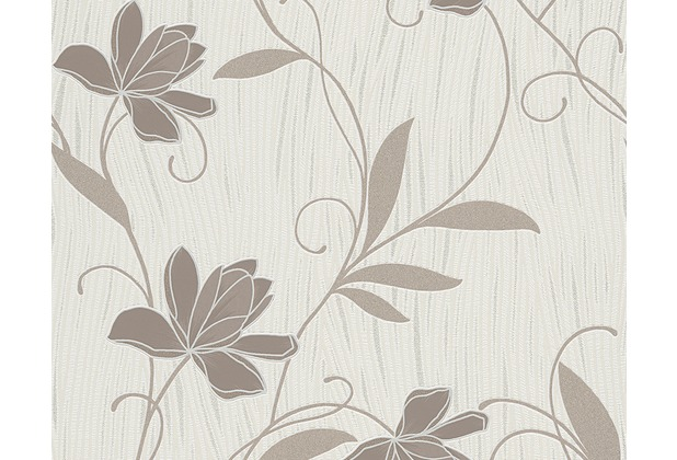 AS Création Mustertapete San Francisco, Strukturprofiltapete, braun, metallic, weiß 949646 10,05 m x 0,53 m