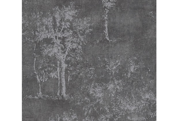 AS Création Mustertapete Secret Garden Tapete dunkelgrau metallic 336035 10,05 m x 0,53 m