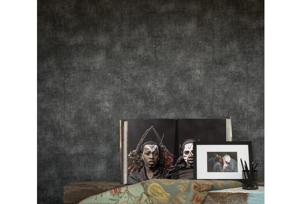 AS Création Mustertapete Secret Garden Tapete grau metallic schwarz 10,05 m x 0,53 m