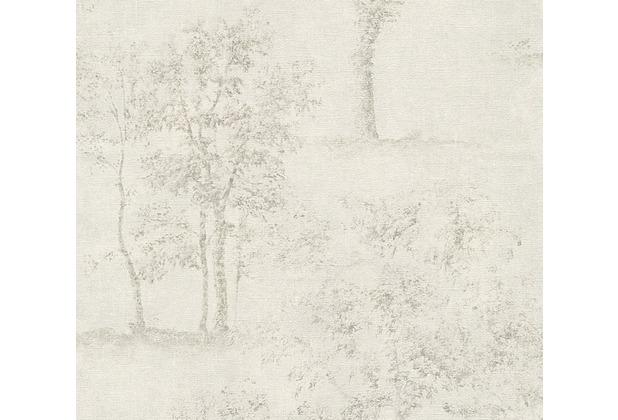 AS Création Mustertapete Secret Garden Tapete grau metallic weiß 336031 10,05 m x 0,53 m