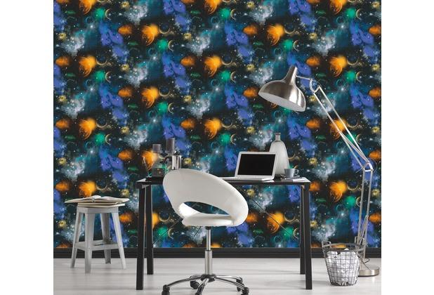 AS Création Mustertapete Simply Decor Papiertapete bunt schwarz 10,05 m x 0,53 m
