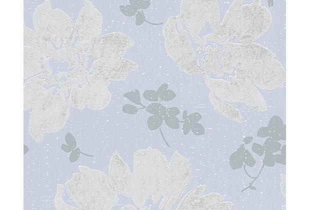 AS Création Mustertapete Smooth, Vliestapete, blau, grau 302354 10,05 m x 0,53 m