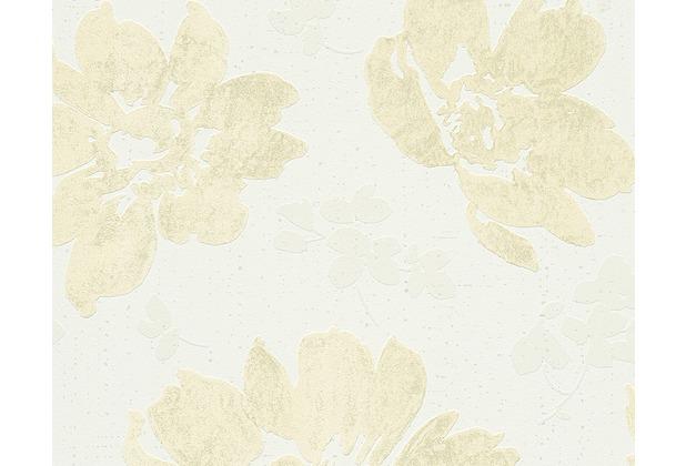 AS Création Mustertapete Smooth, Vliestapete, gelb, weiß 302352 10,05 m x 0,53 m