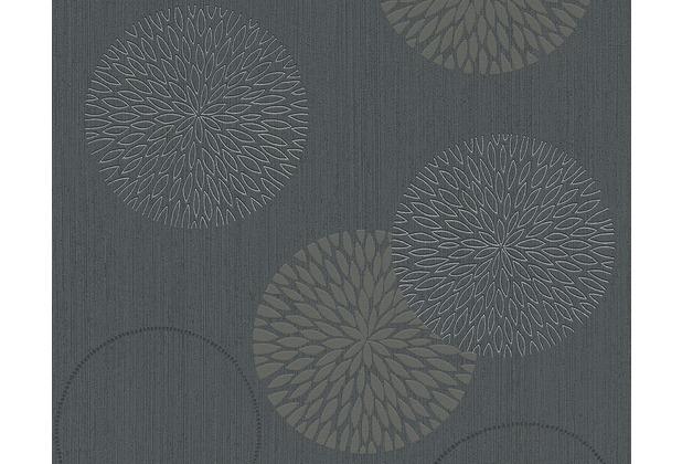 AS Création Mustertapete Spot 3 Vliestapete grau schwarz 937911 10,05 m x 0,53 m
