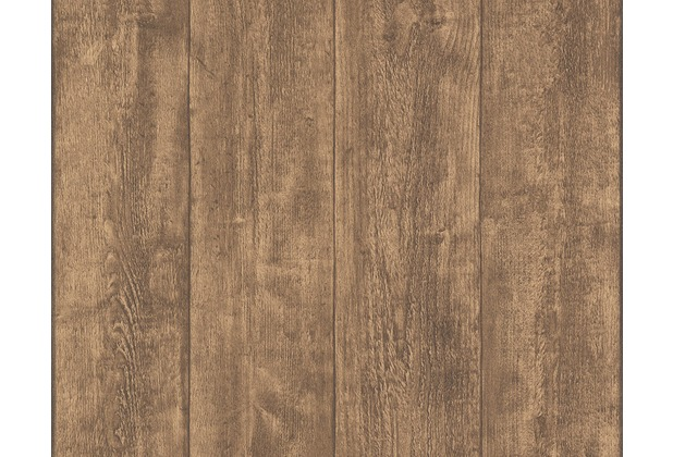 AS Création Mustertapete Wood`n Stone, Tapete, Holzoptik, braun 708823 10,05 m x 0,53 m