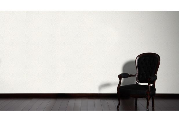 AS Création neo barocke Mustertapete Kingston Strukturprofiltapete metallic weiß 10,05 m x 0,53 m