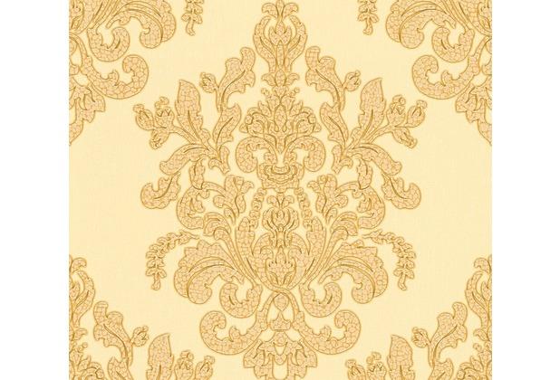 AS Création neobarocke Mustertapete Hermitage 10 beige gelb metallic 341434 10,05 m x 0,53 m