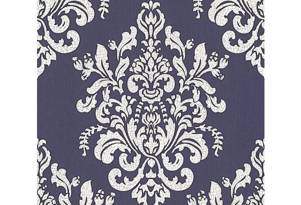 AS Création neobarocke Mustertapete Hermitage 10 metallic lila weiß 341431 10,05 m x 0,53 m