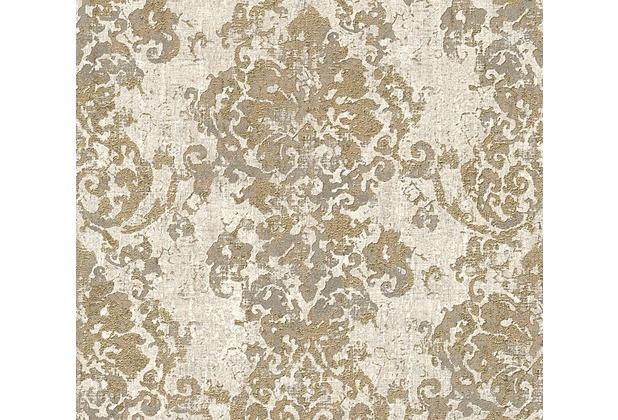 AS Création neobarocke Mustertapete in Vintage Optik Havanna Tapete beige grau metallic 319642 10,05 m x 0,53 m
