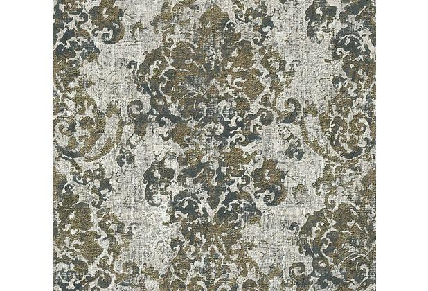 AS Création neobarocke Mustertapete Vintage Optik Havanna Tapete grau metallic schwarz 319644 10,05 m x 0,53 m
