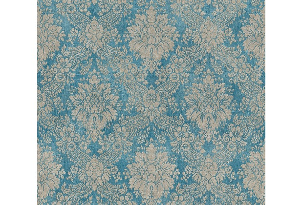 AS Création neobarocke Mustertapete Secret Garden Tapete blau braun metallic 336075 10,05 m x 0,53 m