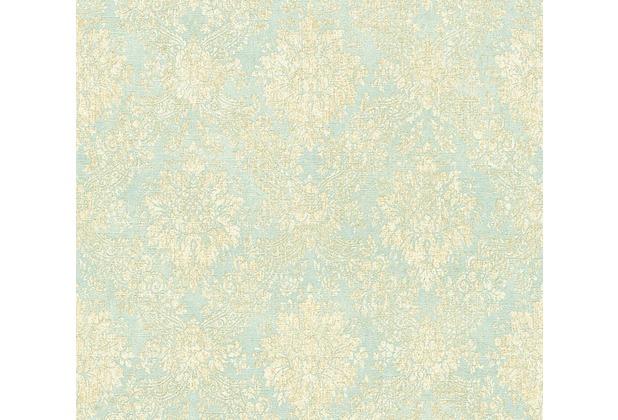 AS Création neobarocke Mustertapete Secret Garden Tapete blau creme metallic 336077 10,05 m x 0,53 m
