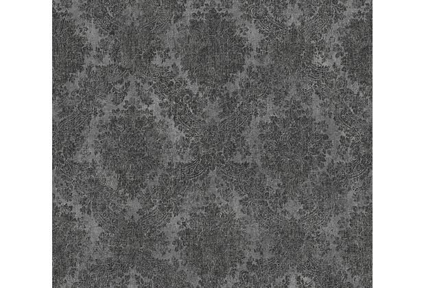 AS Création neobarocke Mustertapete Secret Garden Tapete grau metallic schwarz 336078 10,05 m x 0,53 m