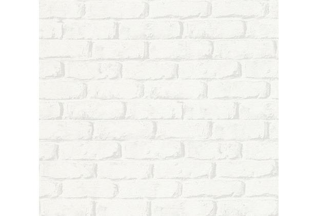 AS Création Papiertapete Boys & Girls 6 Tapete in Backstein Optik grau weiß 343011 10,05 m x 0,53 m