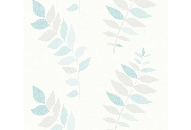 AS Création Papiertapete Jubelwände Ökotapete blau grau weiß 359862 10,05 m x 0,53 m