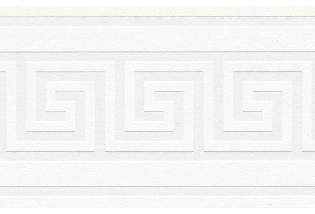 AS Création selbstklebende Bordüre Only Borders 9 metallic weiß 936471 5,00 m x 0,13 m