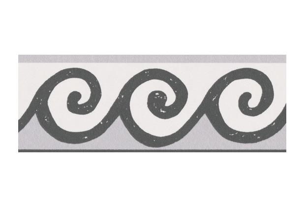 AS Création selbstklebende Bordüre Only Borders 9 schwarz weiß 303461 5,00 m x 0,05 m