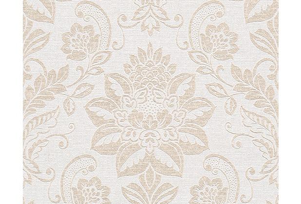 AS Création Shabby Chic Mustertapete Shabby Style, Vliestapete, beige, creme, metallic 293442 10,05 m x 0,53 m