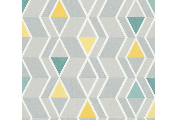 AS Création skandinavische Mustertapete New Look Tapete gelb grau grün 329931 10,05 m x 0,53 m