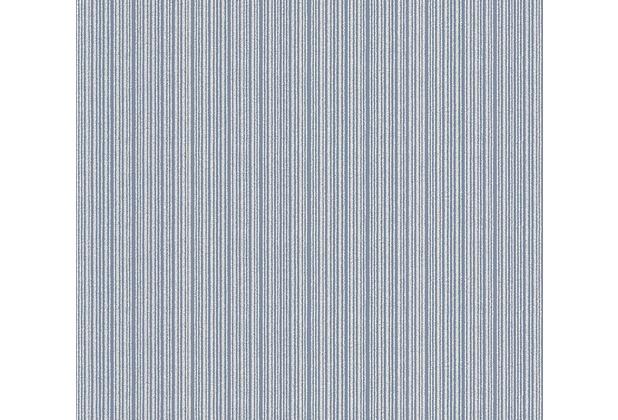 AS Création Streifentapete Belle Epoque Strukturprofiltapete blau metallic 340474 10,05 m x 0,53 m