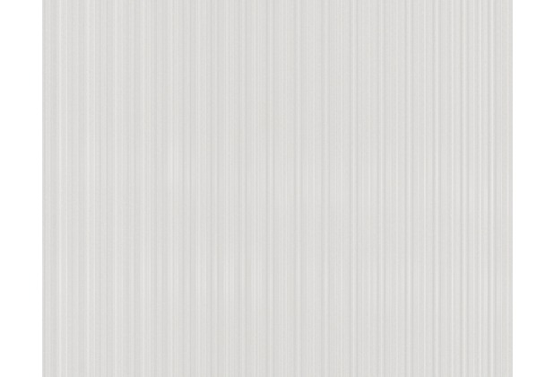 AS Création Streifentapete Black & White 3, Tapete, metallic, weiß 893192 10,05 m x 0,53 m